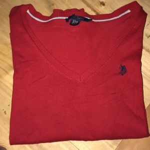 US POLO ASSOCIATION RES V NECK SWEATER